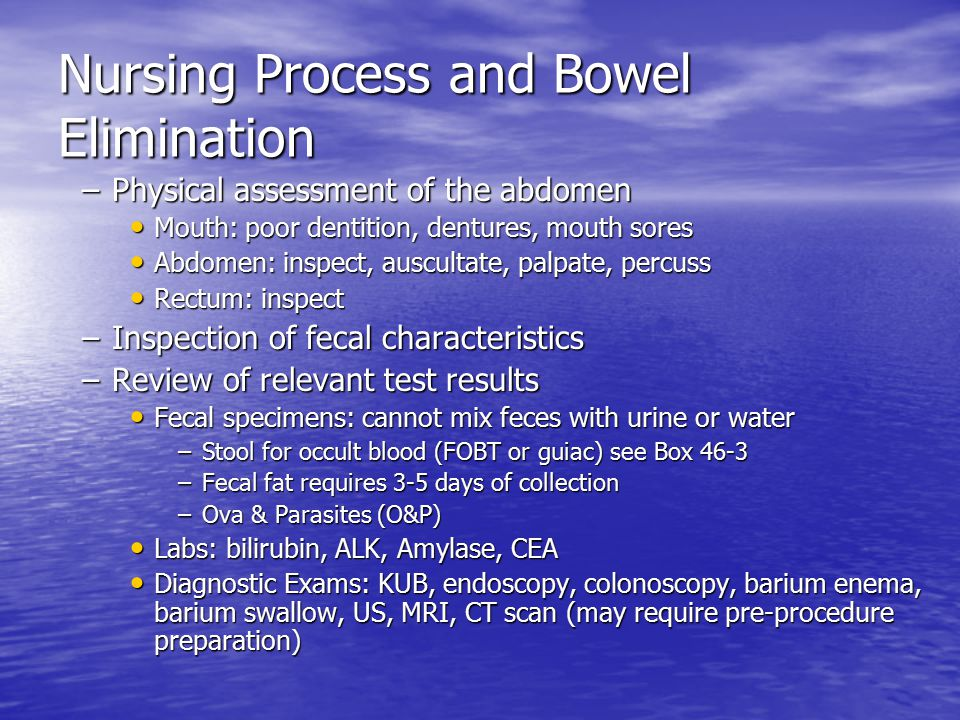 Chapter 46 Bowel Elimination Ppt Video Online Download