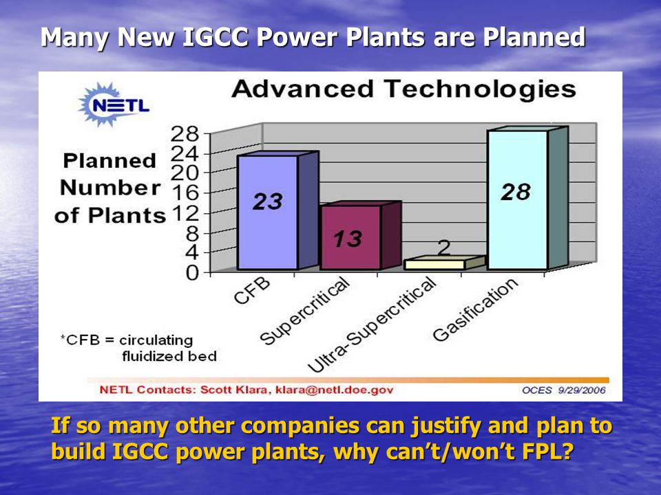 Many New IGCC Power Plants are Planned