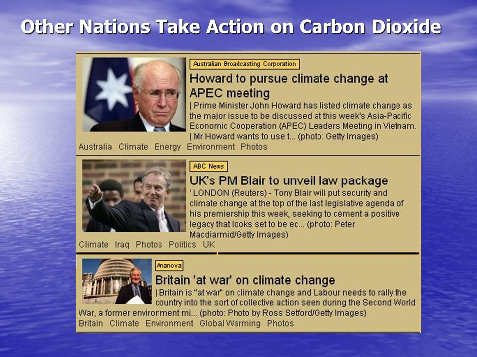 Other Nations Take Action on Carbon Dioxide