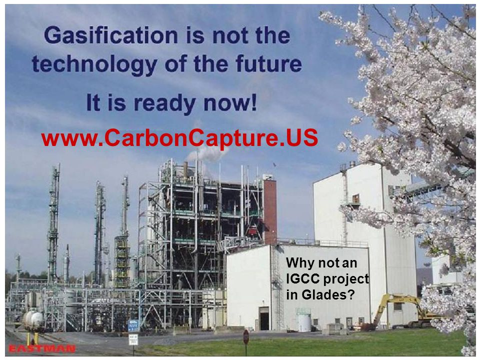 www.CarbonCapture.US Why not an IGCC project in Glades
