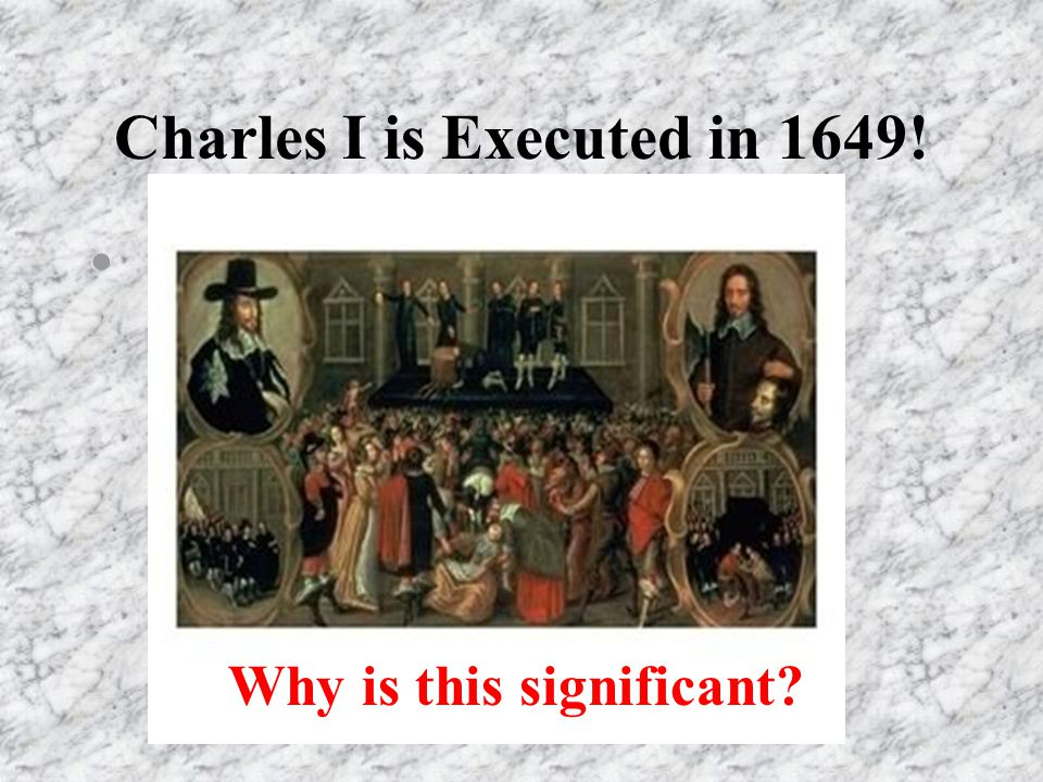 Why was charles executed