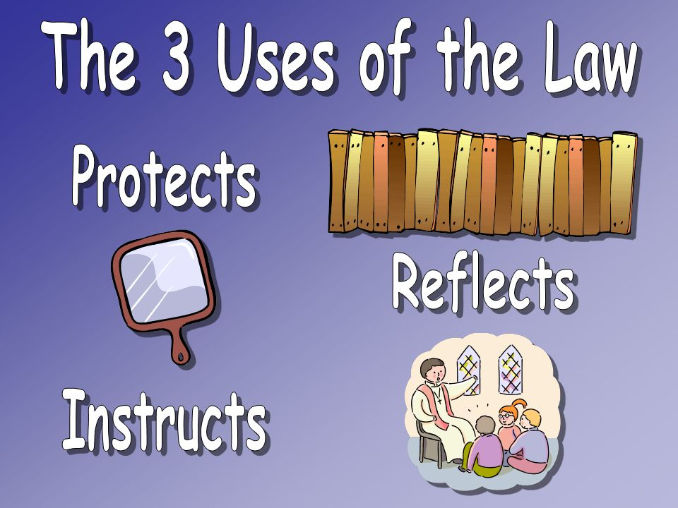 The 3 Uses of the Law Protects Reflects Instructs