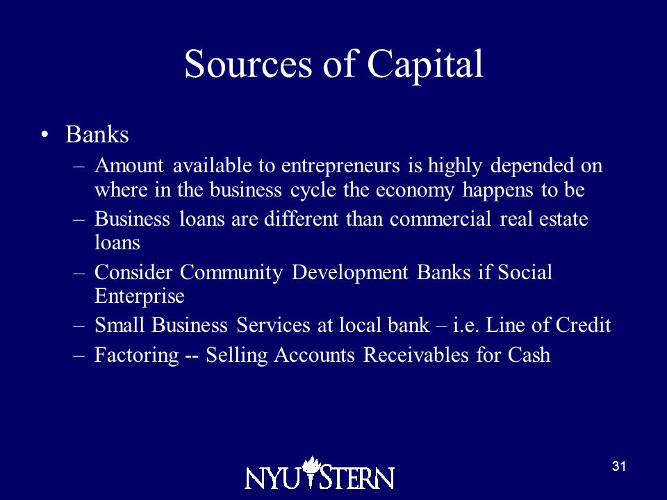 Various Sources of Finance Available to an Entrepreneur