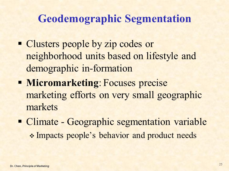 geodemographics as a part of a market segmentation process Part of the rationale for doing the conversions is recognizing that the geodemographics around our stores lent themselves very well to that carnival focus, poul heilmann, senior vice president, strategy & marketing, at coppell, texas-based minyard food stores tells grocery headquarters.