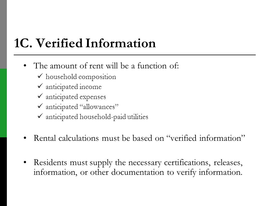 1C. Verified Information