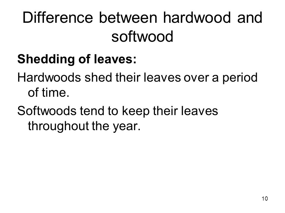 how to tell the difference between hardwood and softwood