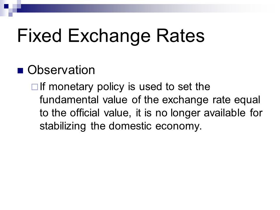 the role of monetary policy in managing the exchange rate