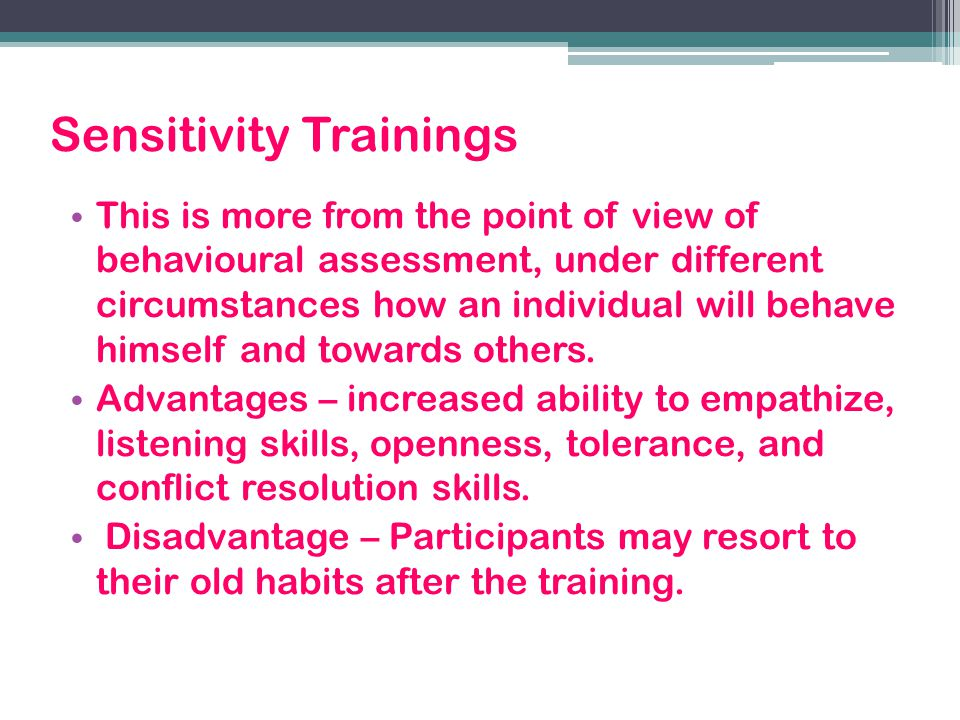 Sensitivity Trainings
