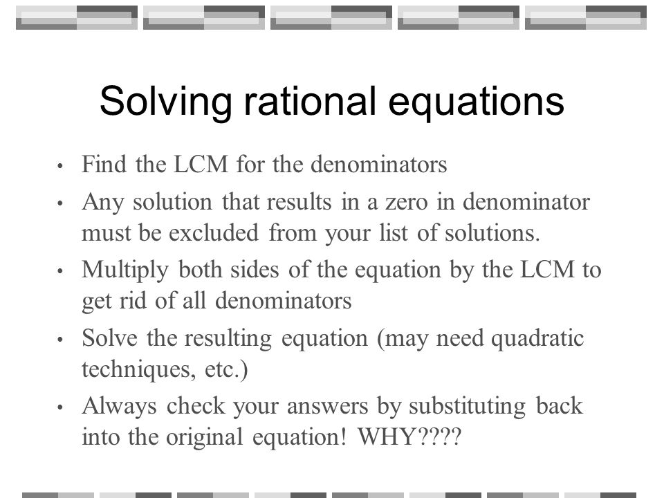 Solving Equations Containing Rational Expressions ppt video – Solving Rational Equations Worksheet
