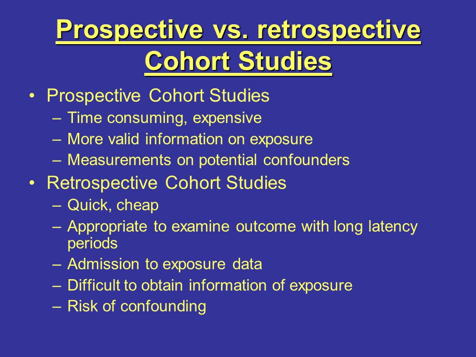Exposure based cohort study ppt