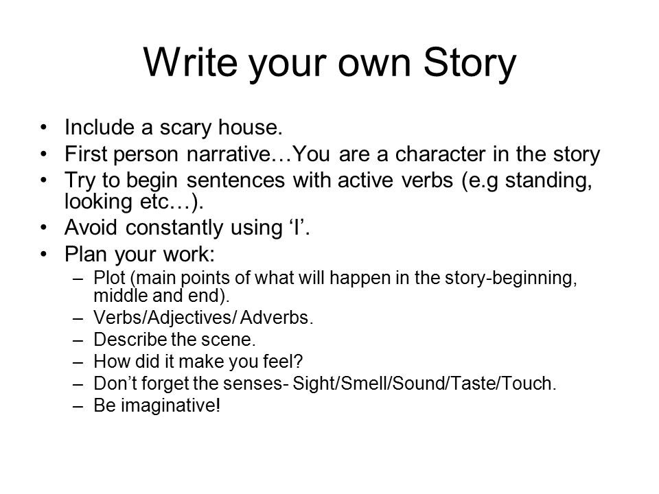scary writing topics
