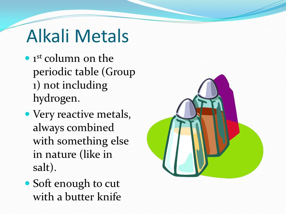 Coloring the periodic table families ppt video online download 5 alkali metals 1st column on the periodic table urtaz Choice Image