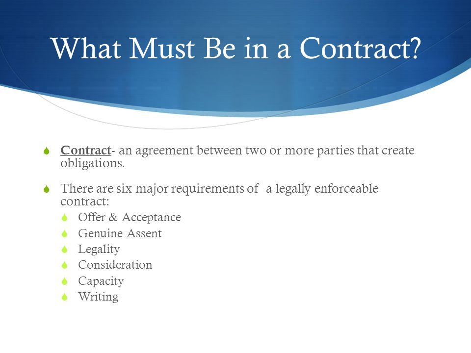 Chapter  Contract Law Law In Society Ppt Download
