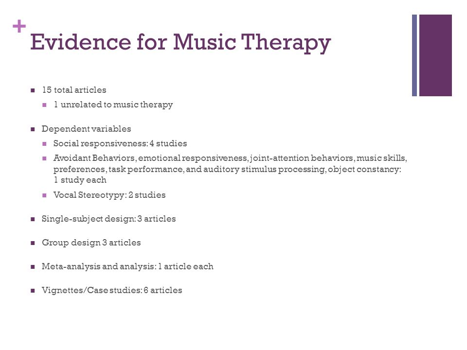 music therapy and autism case studies This e-book contains 12 previously published case studies on how music therapy  has been used to help individuals with autism or rett syndrome improve their.