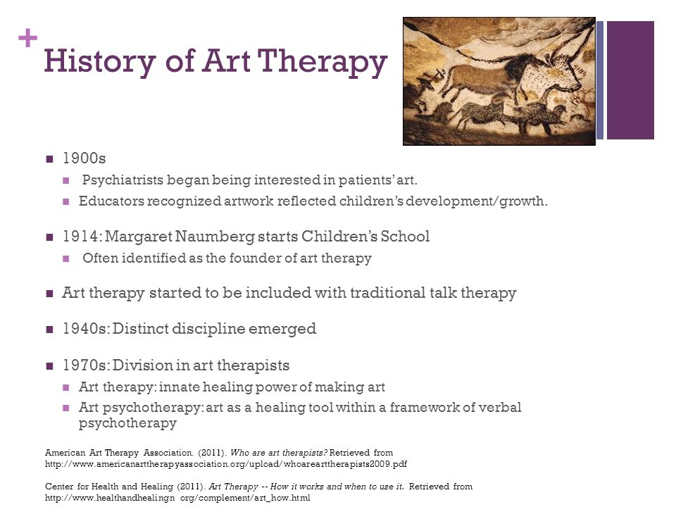 an overview of the origin and history of art therapy - history, facts & benefits a brief look into the basics of what pet therapy, or animal assistant therapy, is and how it works specific attention is given to why this type of therapy is effective.