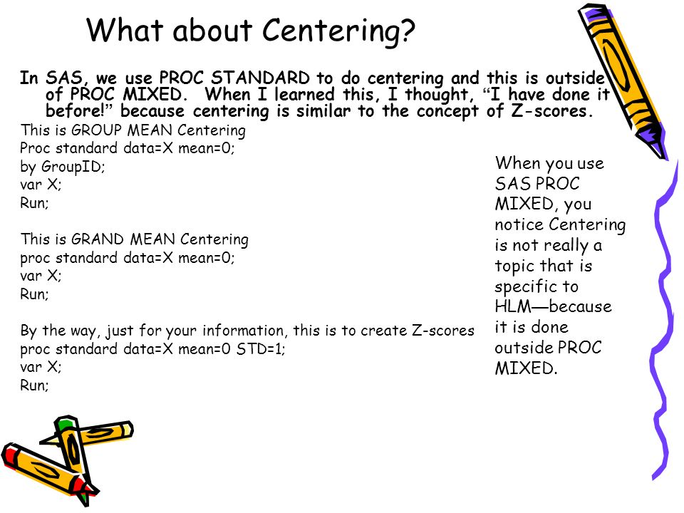 What about Centering