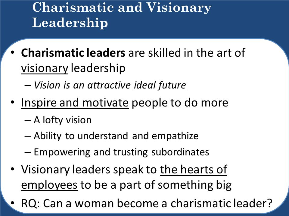 how to become a more charismatic leader