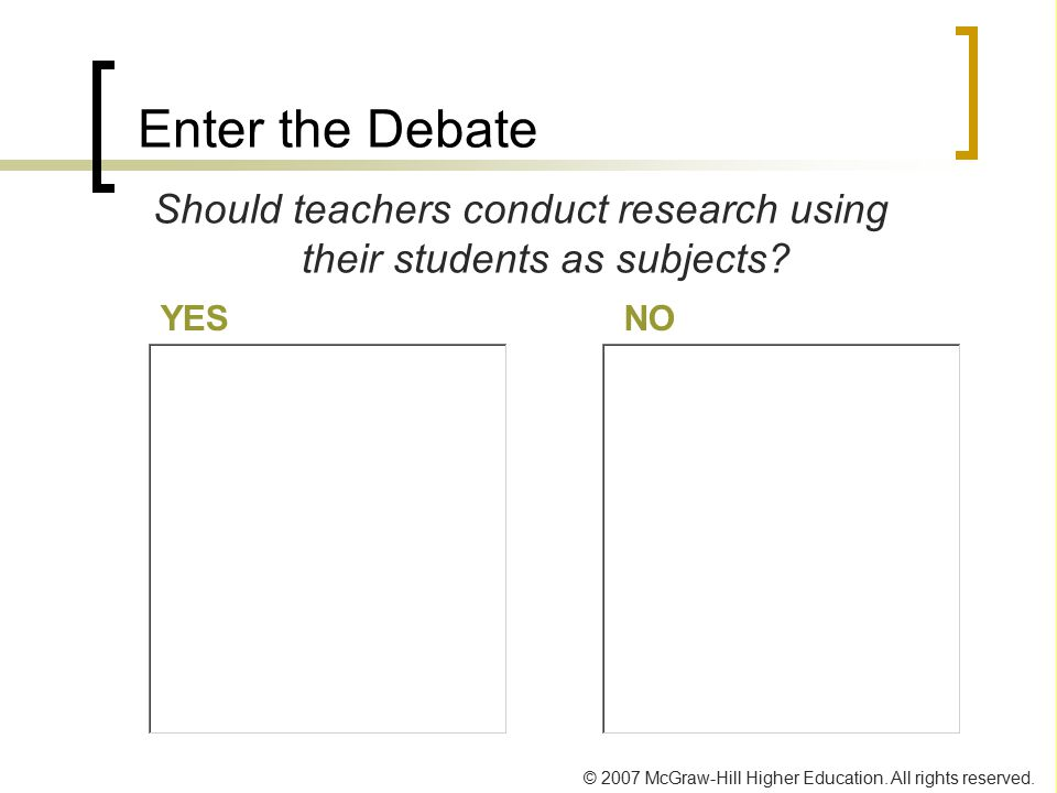 Should teachers conduct research using their students as subjects