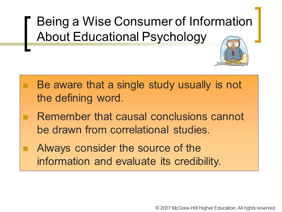 Being a Wise Consumer of Information About Educational Psychology