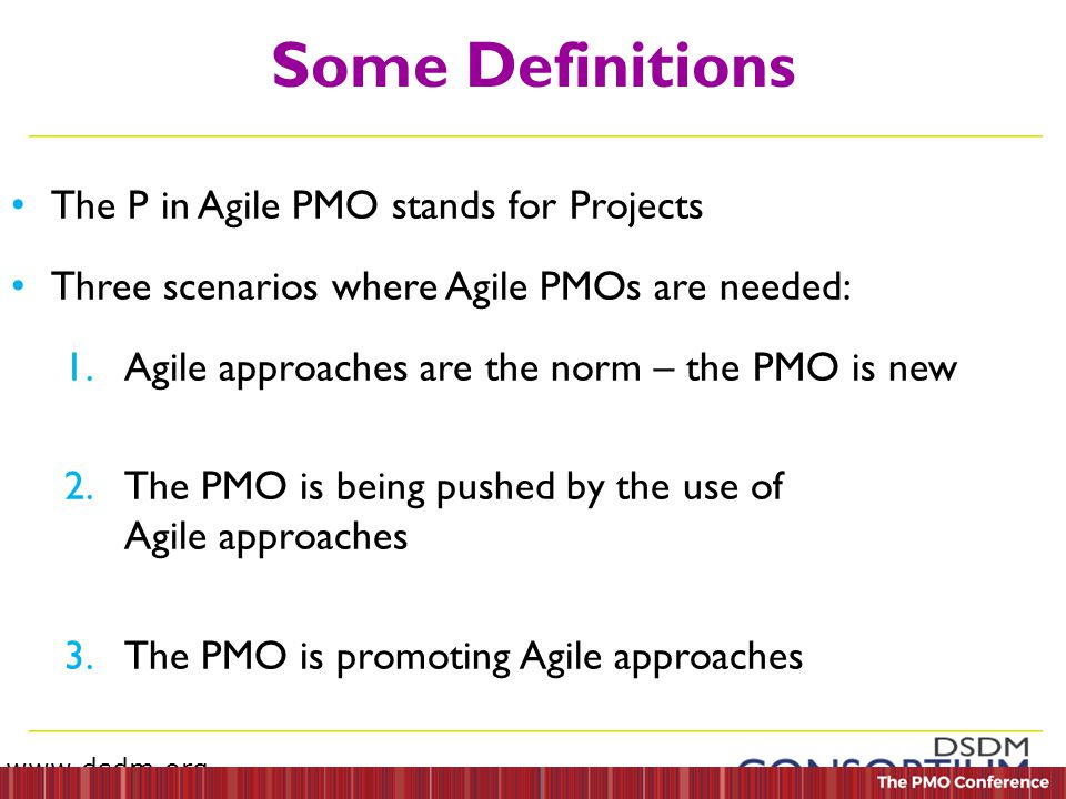 the pmo in an agile environment The challenge with mixed agile/waterfall environments  find ways to evolve the  pmo towards agile/lean thinking as time progresses.