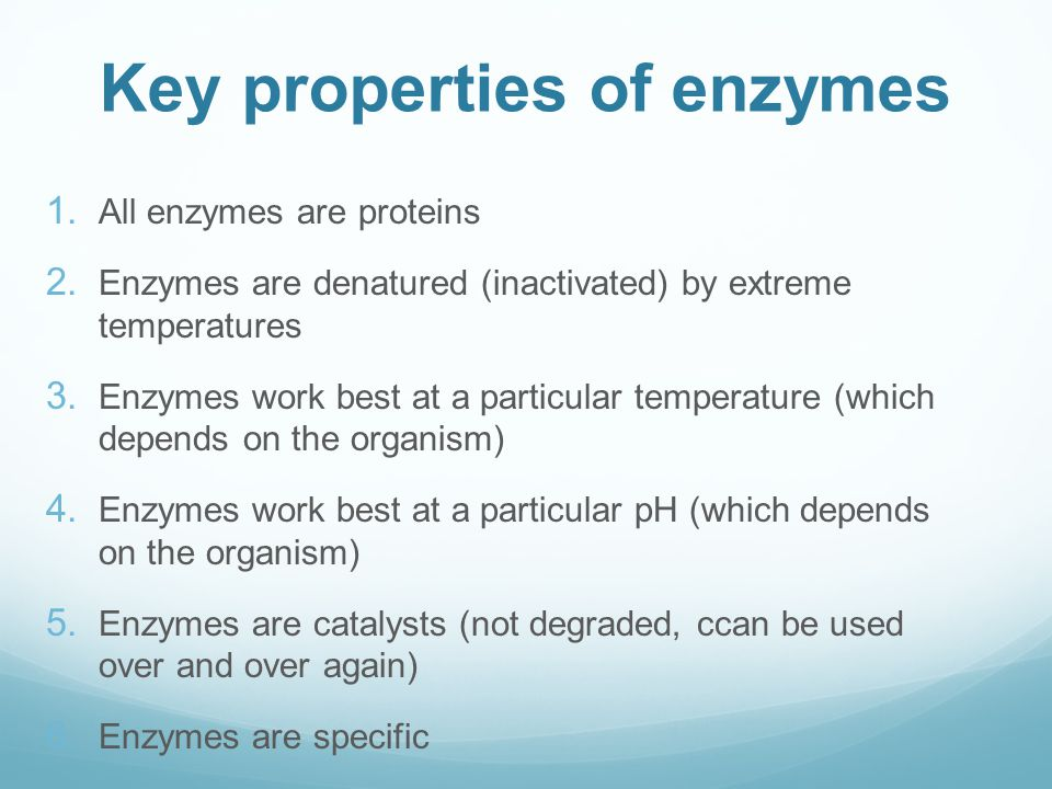 properties of enzyme catalysts Circumvent these problems in living systems with enzymes properties of catalysts high catalytic rates (rate increases by 10 6 or greater are common) high degree of substrate specificity definition: quantitative study of enzyme catalysis.