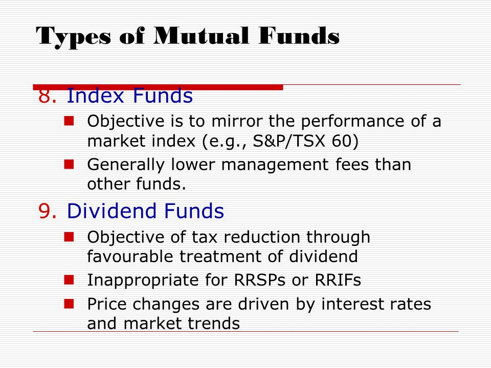 objectives of mutual funds pdf