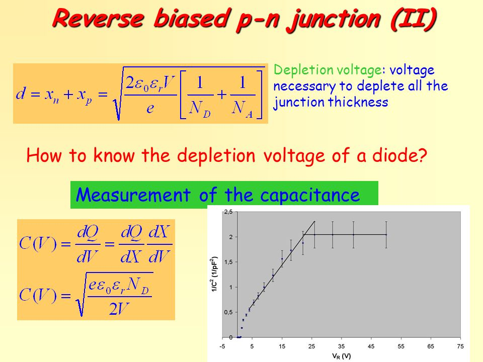 Reverse biased p-n junction (II)