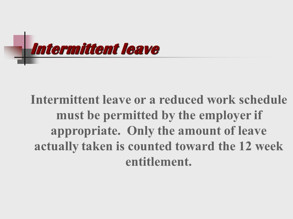 leave laws disability discrimination ppt