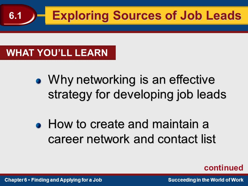 Why is networking an effective job