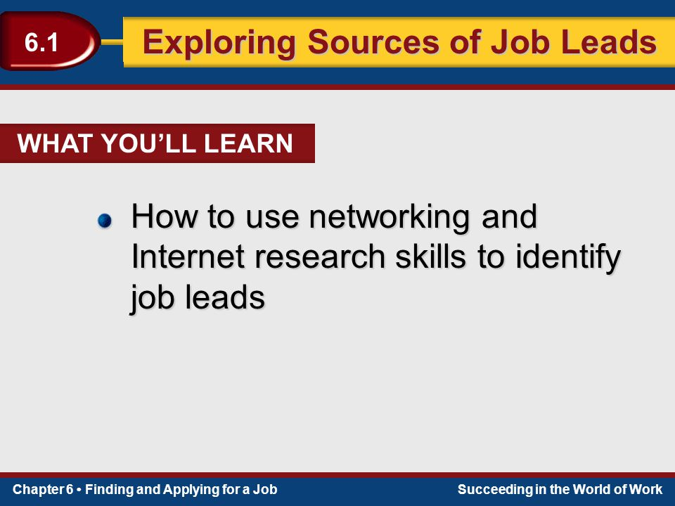 sources of job leads