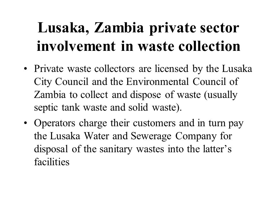 privte sector solid waste Mwma, or the municipal waste management association, is a national membership association, representing solid waste directors (mwma has a separate category and dues structure for private sector membership, through our solid waste advisory council.