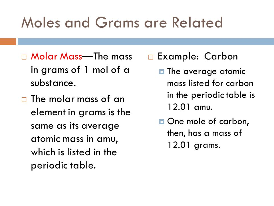 Chapter 3 atoms and the periodic table ppt video online download moles and grams are related urtaz Choice Image