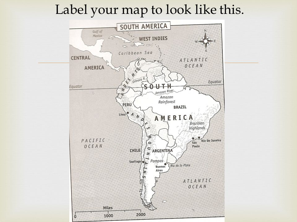 Label your map to look like this.