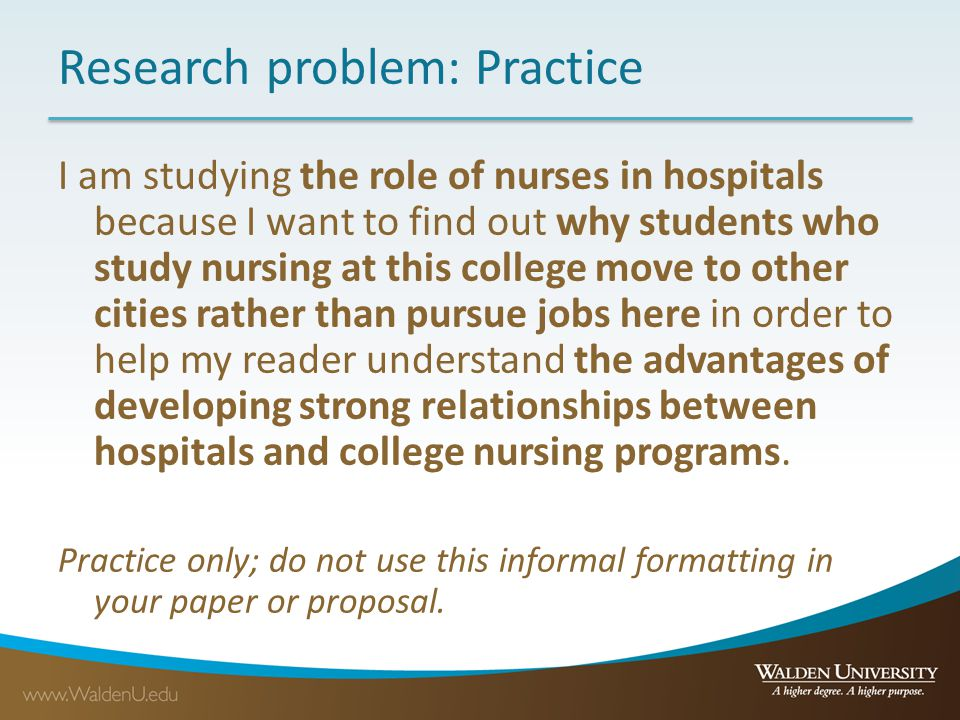 nursing research is used to study a dilemma or a problem in nursing