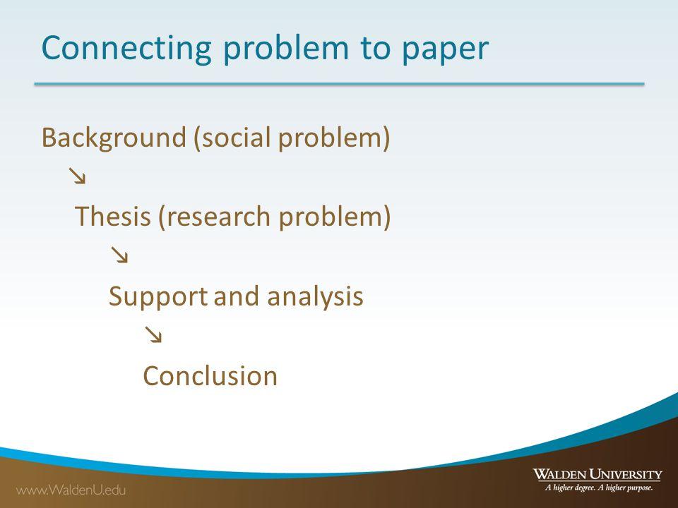 Social problem research paper