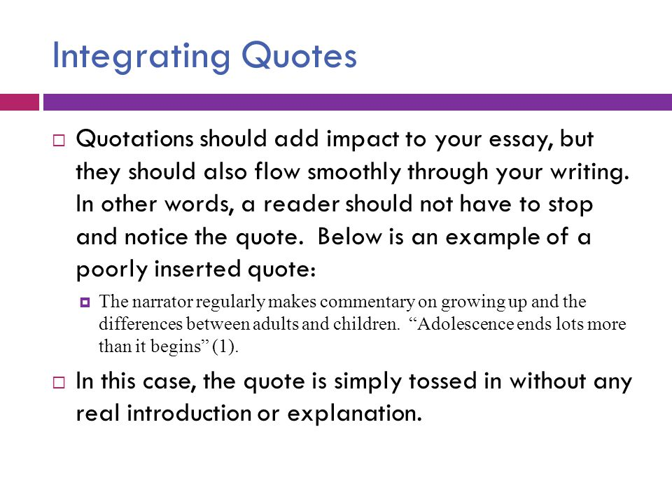 how to do quotations in an essay