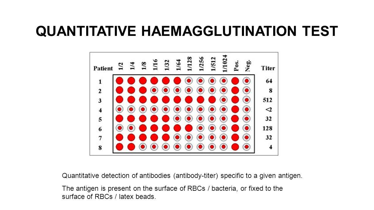 laboratory methods based on antigen