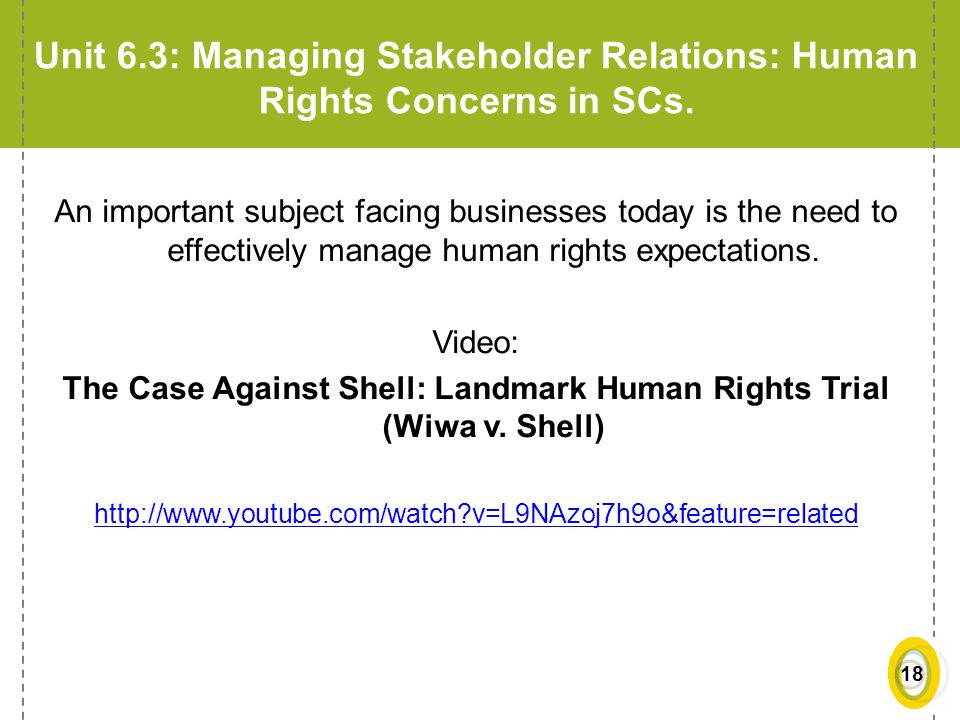 The Case Against Shell: Landmark Human Rights Trial (Wiwa v. Shell)