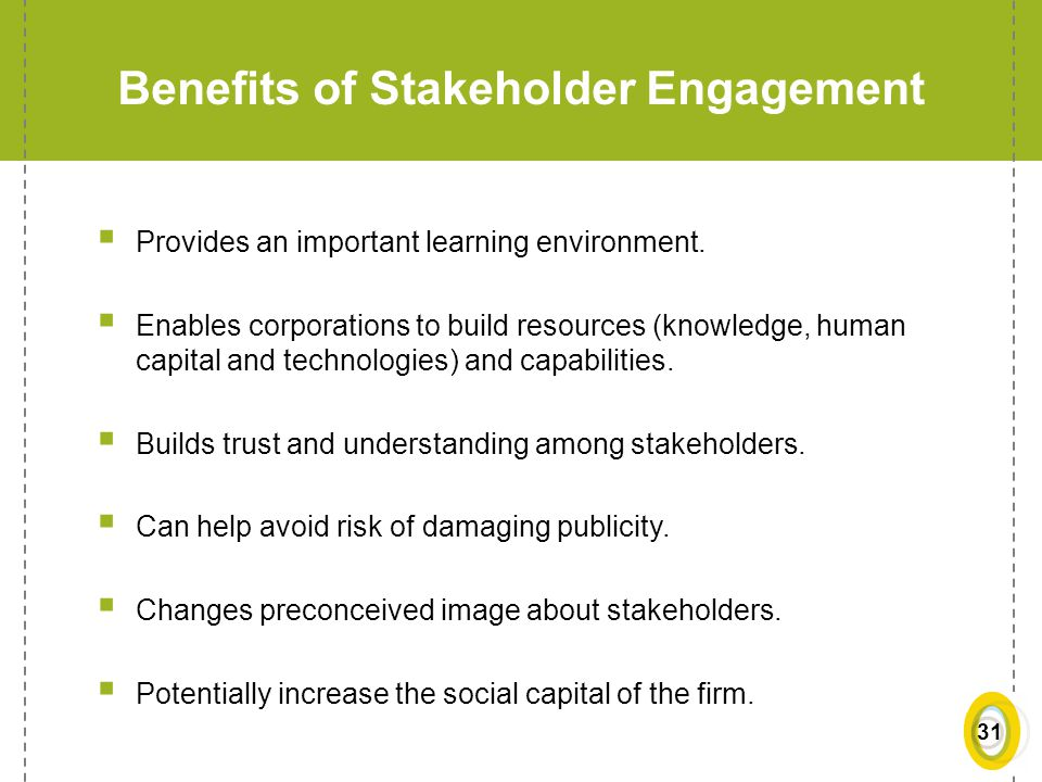 Benefits of Stakeholder Engagement