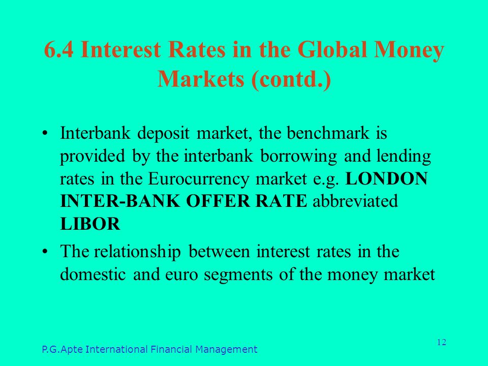 interest rate and libor relationship