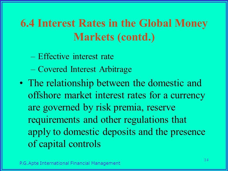 Relationship between money market and forex market