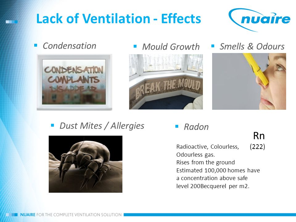 Nuaire positive input ventilation ppt video online download for How to get rid of radon gas in your home