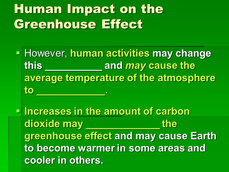 Human Impact on the Greenhouse Effect