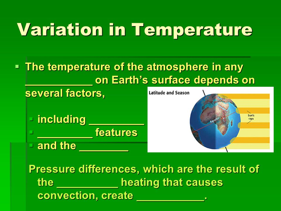 Variation in Temperature