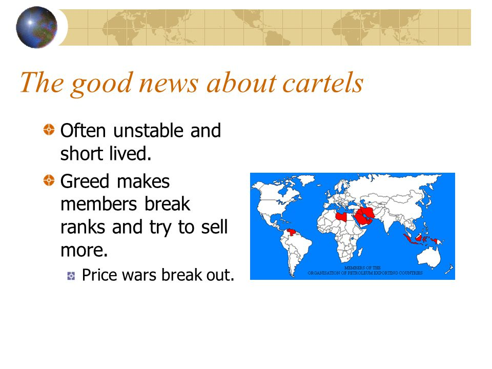 The good news about cartels