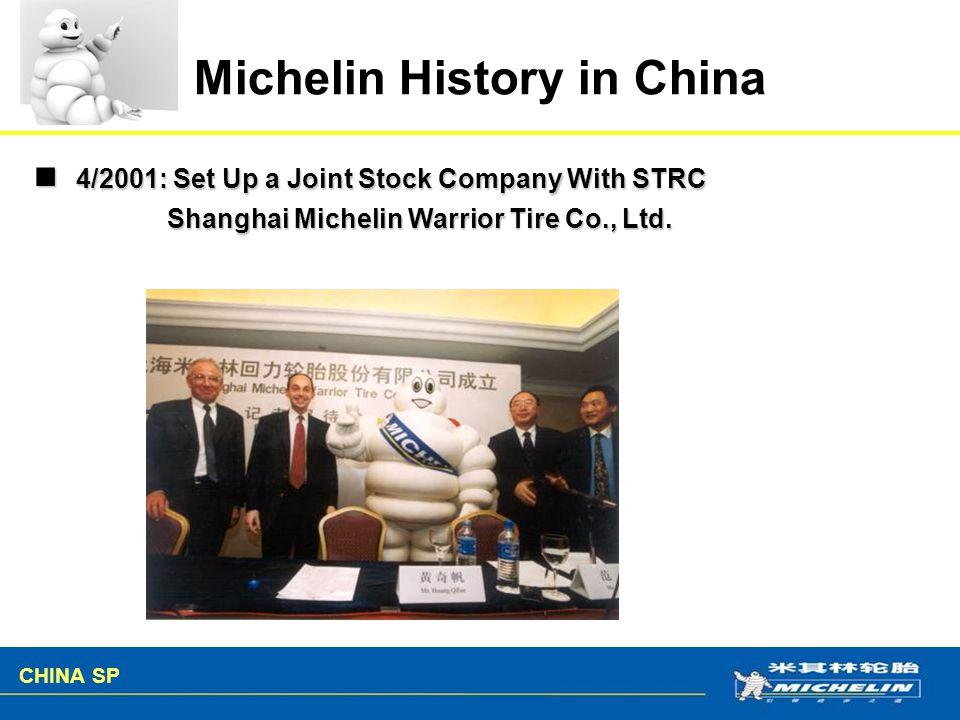 Michelin History in China