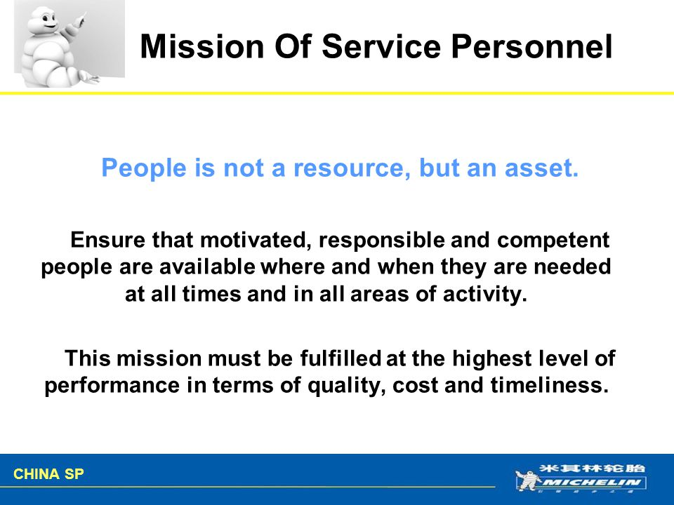 Mission Of Service Personnel