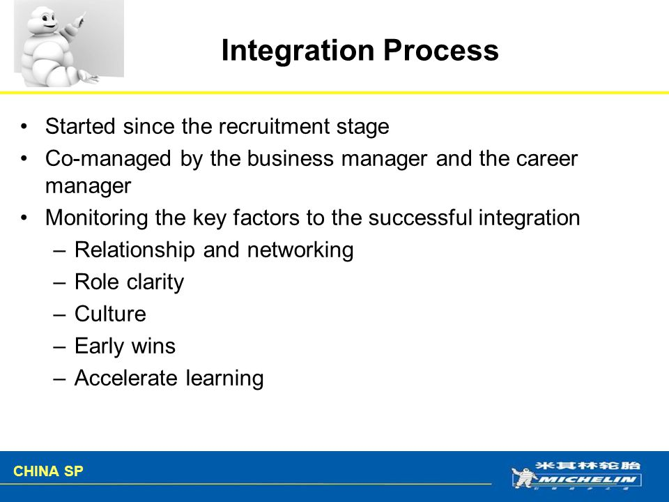 Integration Process Started since the recruitment stage