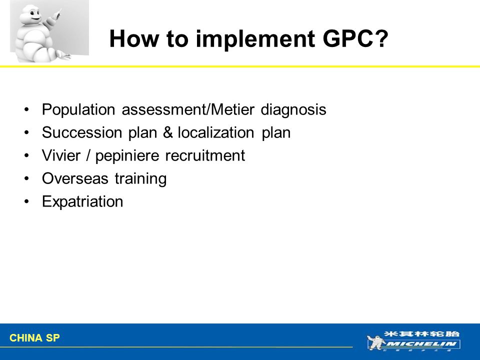 How to implement GPC Population assessment/Metier diagnosis