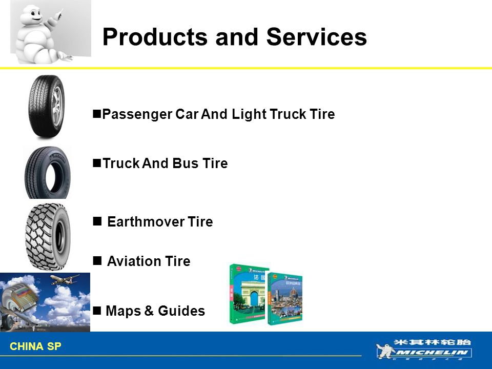 Products and Services Earthmover Tire Aviation Tire
